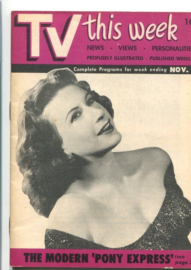 Primary image for TV THIS WEEK #1 11/16/1951-1ST ISSUE-SPACE PATROL-NINA BARA-SOUTHERN STATES-vf