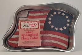 1974 Wilton Party Pan Star Spangled Flag Cake Pan   502-283 - $8.60
