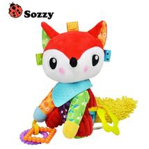 Authorized Authentic SOZZY Colorful Fox Soft Baby Rattle Bell Infant Plu... - $28.00