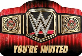 WWE Party Birthday Invitations Invite Boy SMASH 16 PCS - $15.79