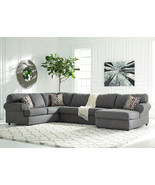 REINA Large Modern Gray Microfiber Living Room Sofa Couch Chaise Section... - $1,397.72