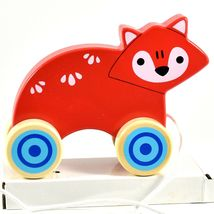 Applesauce Fox Baby Wooden Pull Toy for Toddlers Children Ages 12+ Month image 5