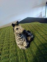 "Miniature Porcelain Zebra, Vintage Japan, Black & White. Approx: 2.5""L x 1 1/4""W image 2"