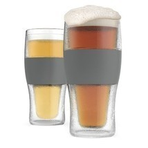 FREEZE  Cooling Pint Glasses Set of 2 by HOST - $23.95
