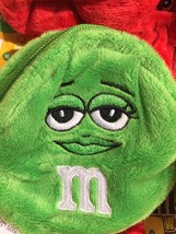 M&M's World Green Character Coin Purse Plush New with Tags - $8.01
