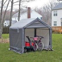 Portable Storage Shed Canopy Tent Garage Bike Tool Motorcycle Cover Sun ... - $154.33