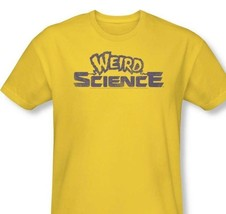 Weird Science T-shirt Distressed Logo classic 80s movie gold cotton tee UNI524 image 1