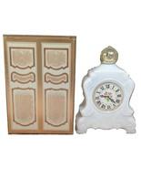 Avon Leisure Hours Charisma Foaming Bath Oil Bottle White Clock Milk Gla... - $17.82