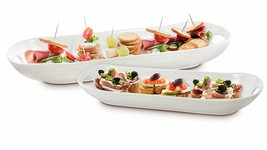 KOVOT Set of 2 Porcelain Serving Dishes | For Serving Appetizers, Snacks... - $44.85