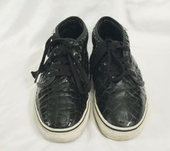 Vans Black Croc Pattern Chukka Boot LX Men 8 Women 9.5 Original Box IOB Shoe image 3
