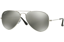 New Ray Ban Aviator RB3025 003/59 58mm Silver w/Polarized silver Mirror - $219.50
