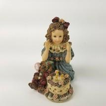 Boyds Bears Yesterdays Child Dollstone Rebecca w/ Elliot Birthday Figuri... - $20.56