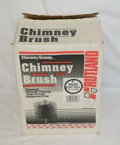 Chimney Sweep 16908 Eight Inch Round Stiff Poly Brush Red