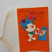 Vintage Hallmark Greeting Card Get Well Puppy Dog Cute Orange Coutts Canada - $7.23