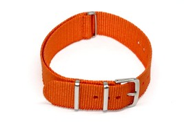 20MM ORANGE NYLON FIT G10 BALLISTIC RAF MILITARY SPORT DIVER WATCH BAND ... - $9.89