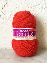 Vintage Bucilla Perlette Twist DuPont Orlon Acrylic Yarn - 1 Skein Red - $5.65