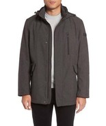 TUMI F77123 Men Grey Melange Softshell Hooded Understated Commuter Jacke... - $119.99