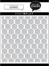 Honeycomb Stencil. Photoplay. Becky Moore Design