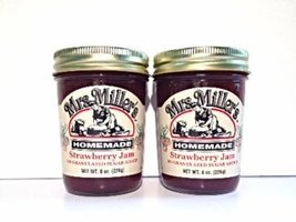 Mrs. Miller's Amish Homemade Strawberry No Granulated Sugar Added Jam 8 oz/226g  - $14.22