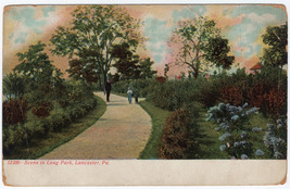 1901-1907 Lancaster PA Scene in Long Park Lancaster County RARE UDB Post... - $5.93