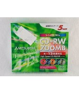 Mitsubishi SW80EM5 CD-RW 700MB High Speed 5 Pack Re-writable 5 Color Mix... - $19.79