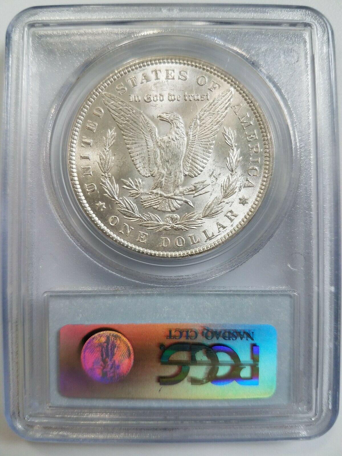 1889 Silver Morgan Dollar PCGS MS 64 Vam 18 Doubled Ear Mint Error Variety