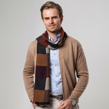 Business Style Warm Winter Scarf For Men Cashmere Soft Fabric Large Size... - $19.99