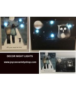 Home Decor Night Light ALL YOU NEED IS LOVE OR NIGHT OWL AA Batteries Timer - $8.99