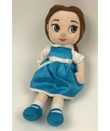 Disney STORE Animators' Collection BELLE Plush Doll BLUE Dress SATIN Girl Beauty - $15.86