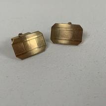 Vintage Anson RQP Cufflinks Goldtone Engravable - $27.99