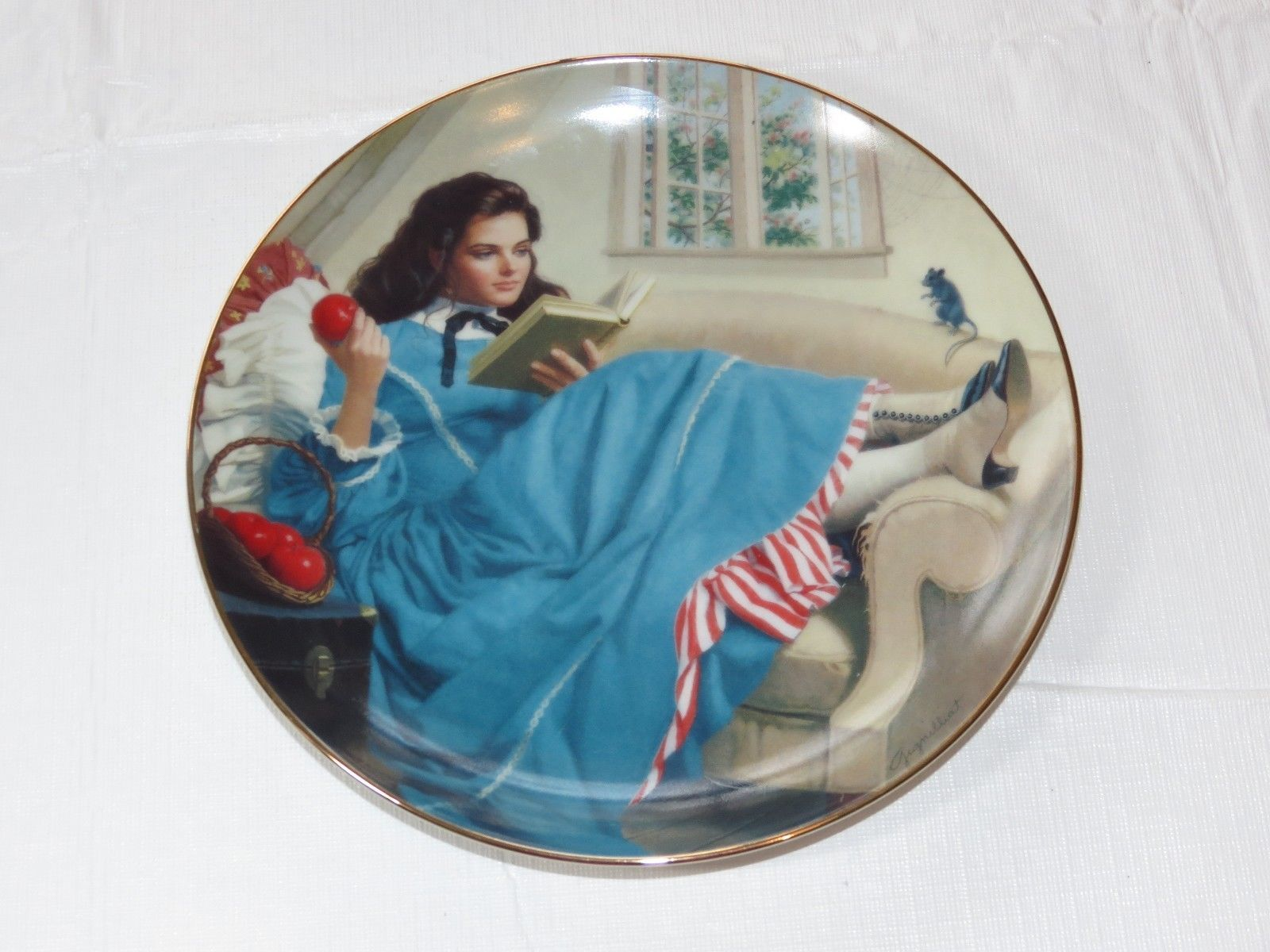 Jo by Elaine Gignilliat Little Women Danbury Mint Collector Plate ~