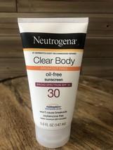 Neutrogena Clear Body Lotion oil-free Sunscreen - SPF 30 - 5 Fl Oz Exp-05/2021+ - $11.74