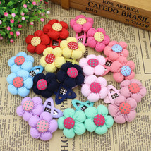 20pcs/10pairs/bag 2017 Hair Clips Cotton Sunflowers Barrettes Girl Hair ... - $15.45