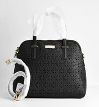 Kate Spade Bag Maise Cedar Street Perforated Leather Black PXRU4939 - $280.56