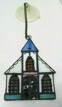 "Stained Glass Church Sun Catcher with Suction Cup 4"" x 3"" - $13.85"