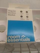 "Room Essentials  Basic Suction Basket Bathroom Caddy White 9.25 x 4 x 3""   NWT  image 2"