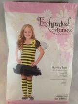 Girls Leg Avenue Bumble Honey Bee Halloween Costume Dress & Leg Warm Size S 4-6 - $24.74