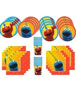 MSS Sesame Street Birthday Party Supplies Bundle Pack for 16 Guests - $17.78