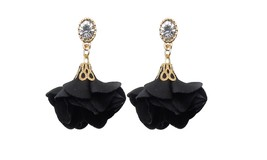 Rose Flower Drop Earrings For Women - $12.59