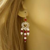 The Gem Girl Sterling Silver Open Heart Chandelier Earrings ~ Valentine ... - $38.00