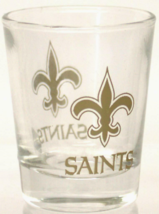 New Orl EAN S Saints Nfl Shot Glass 2OZ Classic Clear 2-SIDED New - $9.29