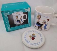 Muggables Coffee Mug w/Lid Mom's Love 10 oz Stoneware Japan Mother's Day... - $24.18
