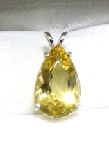 Elegant 5 ct Yellow Emerald / Sterling Silver Pendant from KT Elegant Jewelry - $159.95