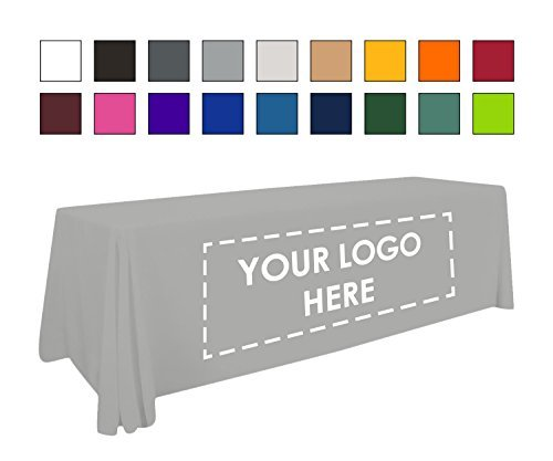 Personalized Add Your Own Logo Custom Tablecloth 6' Ivory Table Cover - Table Th
