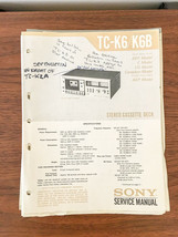 Sony TC-K6 TC-K6B Cassette Service Manual *Original* - $18.53
