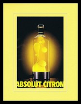 1998 Absolut Citron Vodka Lava Lamp 11x14 Framed ORIGINAL Vintage Advert... - $32.36