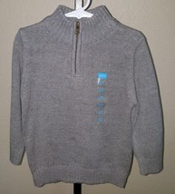 NEW Childrens Place Zip Front Pullover Sweater Black/Ivory Stripe Boys 3T NWT - $19.99