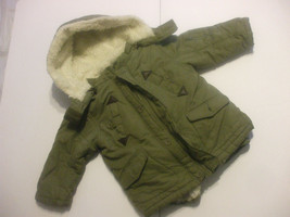 Green 2 in 1 Winter Vest And Jacket With Hood Toddlers Size 3 100% Polye... - $19.79