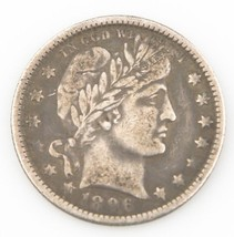 1896-O 25¢ Barber Quarter, Strong VF Condtion, Medium Toning, Tough Date! - $335.61