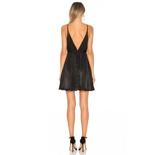 New Womens NWT Free People Dress Black Party Short 10 Adjustable Straps Low Back